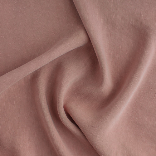 Cupro Linen & Tencel Slub - Dusty Rose | Blackbird Fabrics