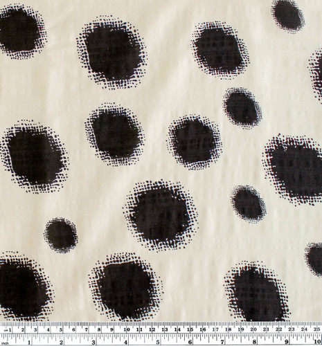 Dotted Rayon Cotton Voile - Black Dots | Blackbird Fabrics