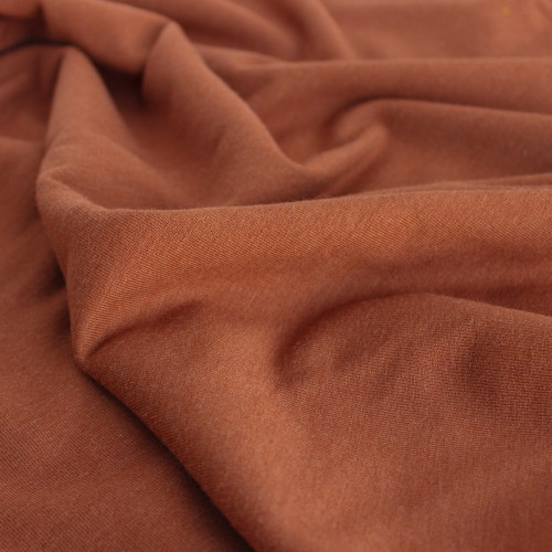 Bamboo & Cotton French Terry - Terracotta | Blackbird Fabrics
