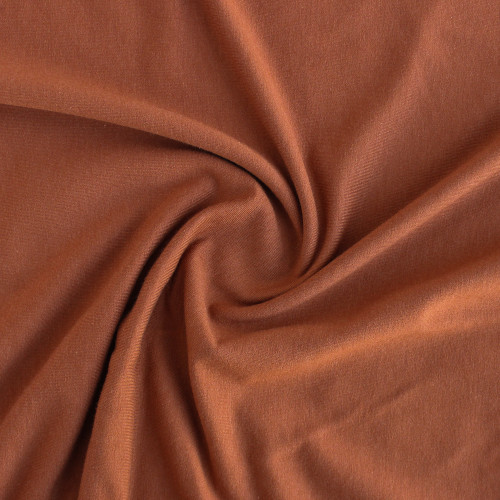 Bamboo & Cotton French Terry - Terracotta | Blackbird Fabrics