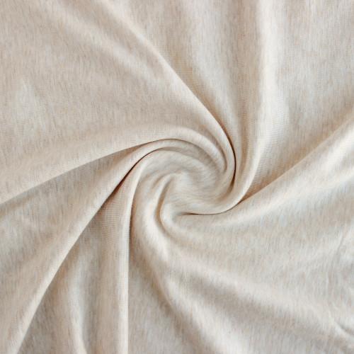 Bamboo & Cotton French Terry - Heather Almond | Blackbird Fabrics