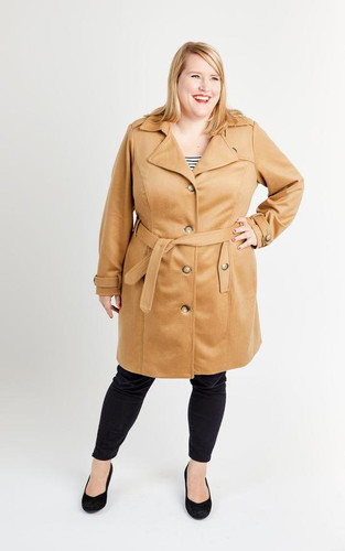 Chilton Trench Coat by Cashmerette | Blackbird Fabrics