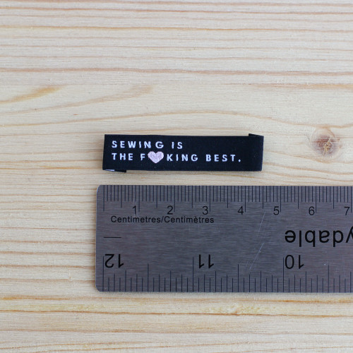 SEWING IS THE BEST Woven Labels by Kylie and the Machine   Blackbird Fabrics
