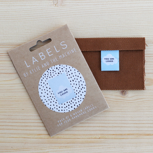 YOU ARE LOVED Woven Labels by Kylie and the Machine | Blackbird Fabrics