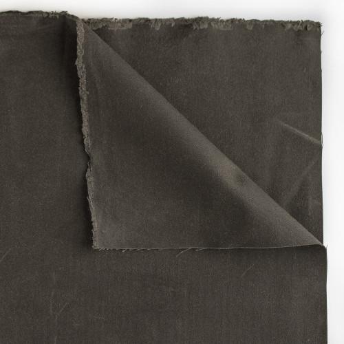 17oz Waxed Cotton Canvas - Charcoal | Blackbird Fabrics