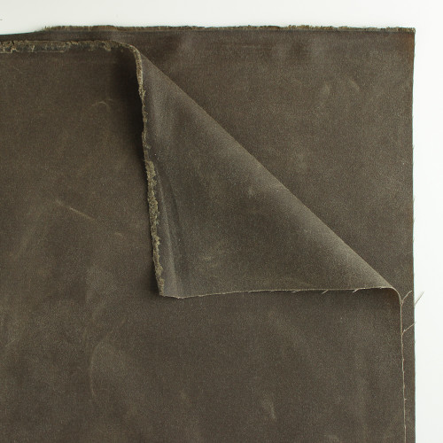 17.5oz Waxed Cotton Canvas - Military   Blackbird Fabrics