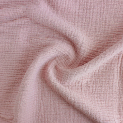 Cotton Double Gauze - Blush Pink  | Blackbird Fabrics