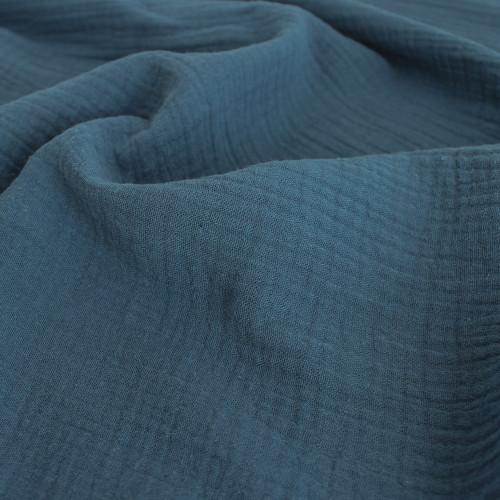 Cotton Double Gauze - Ocean | Blackbird Fabrics