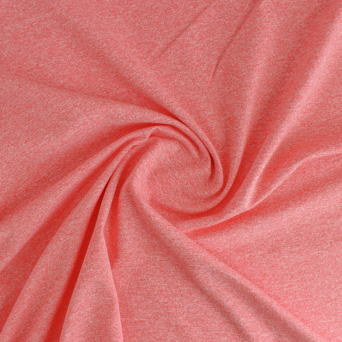 Heathered Athletic Knit - Coral | Blackbird Fabrics