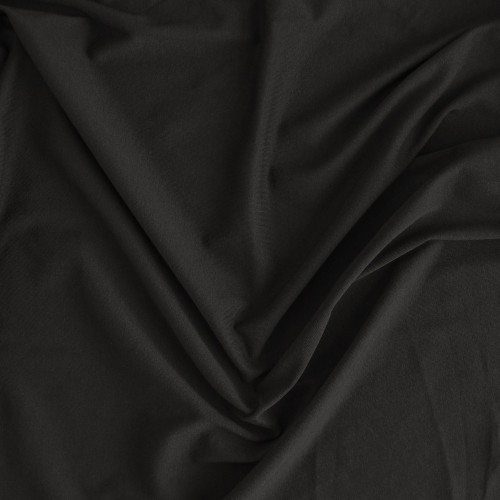 100% Organic Cotton Jersey Knit - Black - 1/2 meter