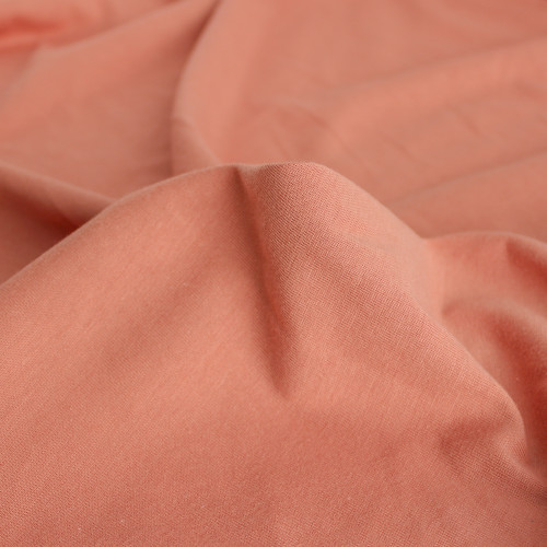 100% Organic Cotton Jersey Knit - Salmon - 1/2 meter