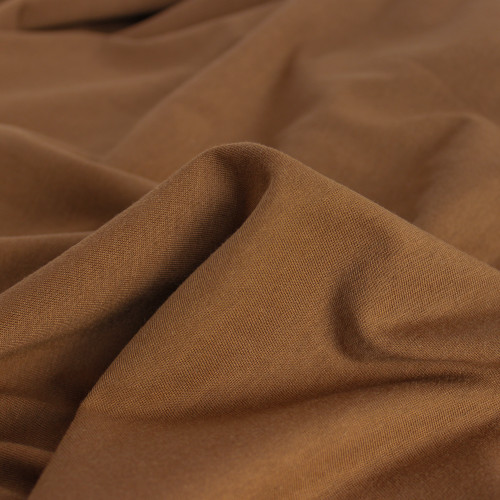 100% Organic Cotton Jersey Knit - Nutmeg | Blackbird Fabrics