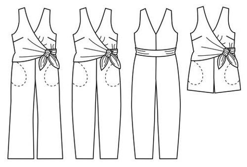 Sierra Jumpsuit by Papercut Patterns | Blackbird Fabrics