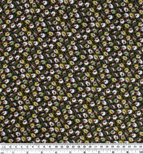 Mini Floral Print Viscose - Green/White | Blackbird Fabrics