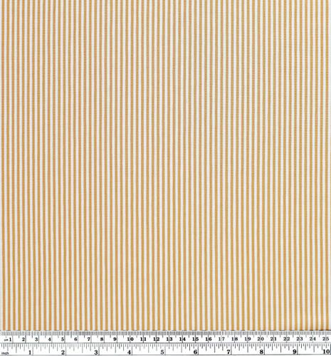 Micro Striped Bamboo & Organic Cotton Jersey Knit - Gold/White | Blackbird Fabrics