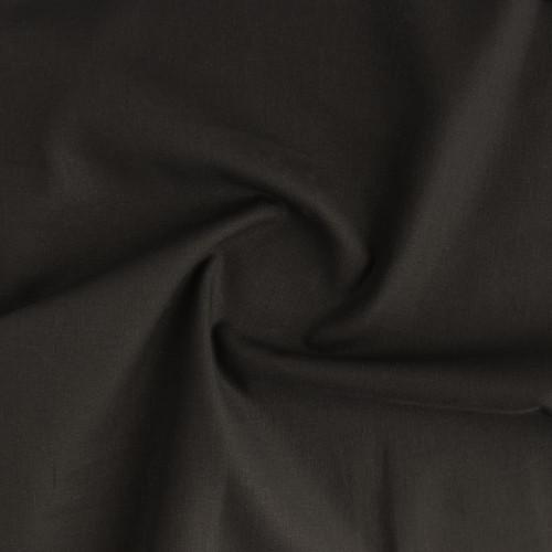 Organic Linen & Cotton - Black   Blackbird Fabrics