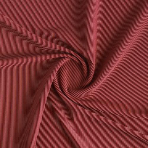 Ribbed Polyester Swim Tricot - Rosewood | Blackbird Fabrics