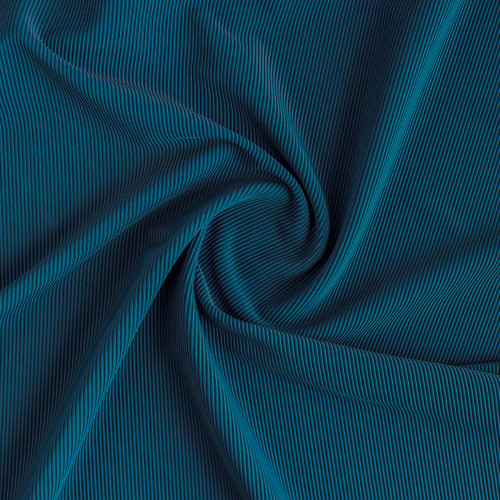 Ribbed Polyester Swim Tricot - Navy Teal  | Blackbird Fabrics