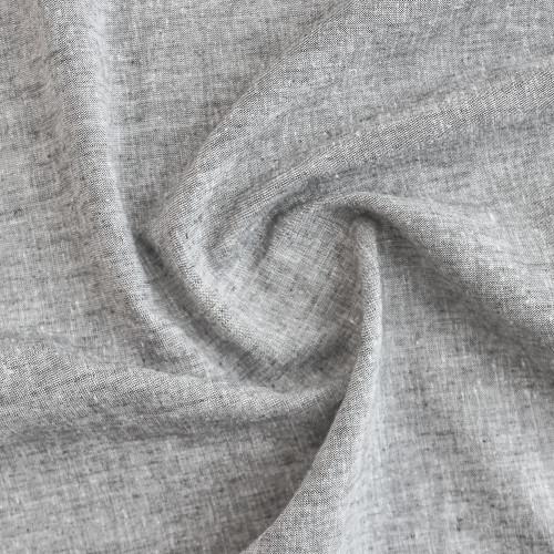 Linen & Cotton Chambray - Grey | Blackbird Fabrics