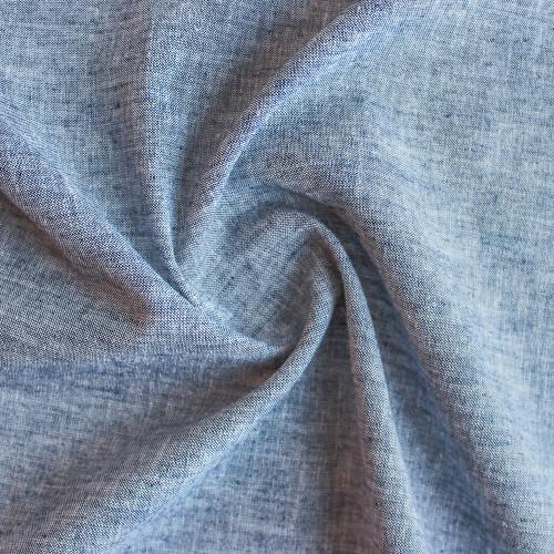 Linen & Cotton Chambray - Navy | Blackbird Fabrics