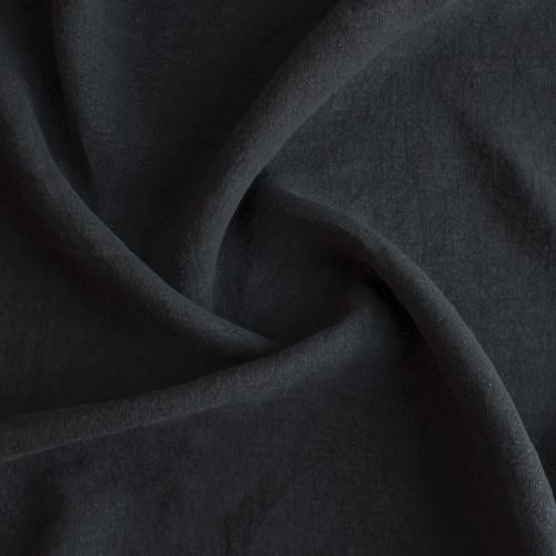 Washed Linen - Black | Blackbird Fabrics