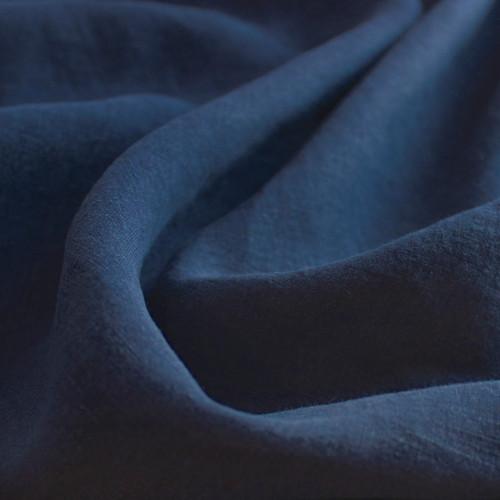 Washed Linen - Navy | Blackbird Fabrics