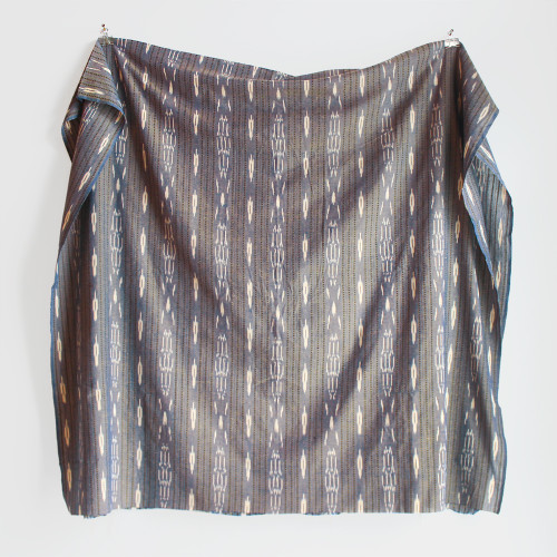 Chambray Cotton Ikat - Blue/Gold   Blackbird Fabrics