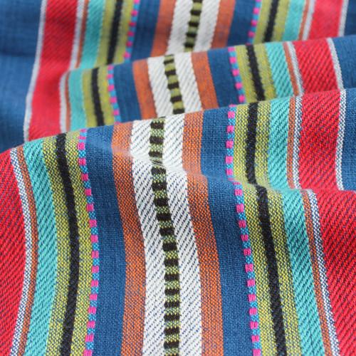 Handwoven Cotton Stripe - Navy/Multi | Blackbird Fabrics
