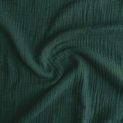 Cotton Double Gauze - Hunter Green | Blackbird Fabrics