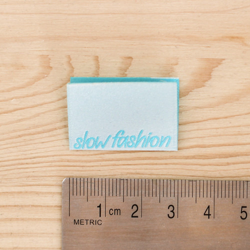 SLOW FASHION Woven Labels by Kylie and the Machine | Blackbird Fabrics