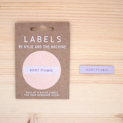 SECRET PYJAMAS Woven Labels by Kylie and the Machine | Blackbird fabrics