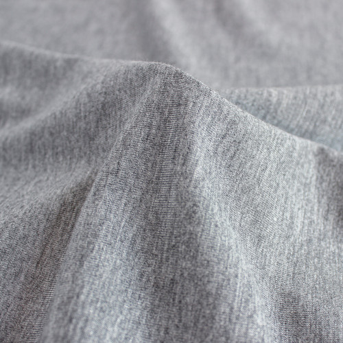 Bamboo Jersey Knit - Heathered Grey | Blackbird Fabrics