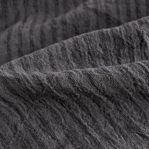 Striped Linen Gauze - Charcoal/Black   Blackbird Fabrics