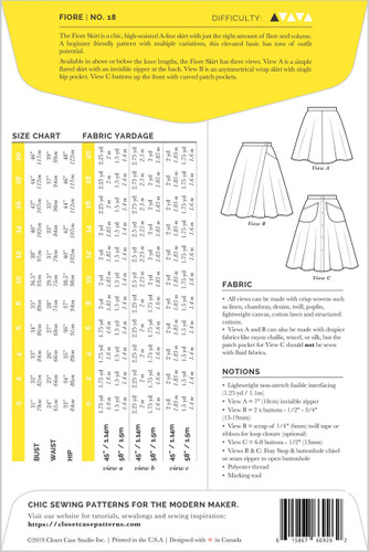Fiore Skirt by Closet Case Patterns | Blackbird Fabrics