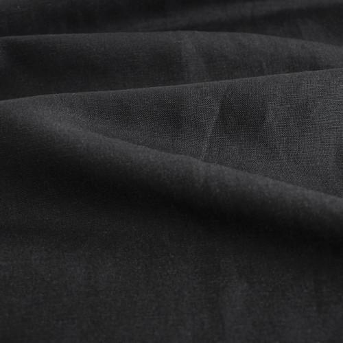Silk & Linen Slub - Black | Blackbird Fabrics