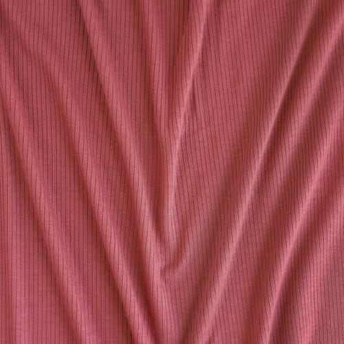 Light Weight Modal Rib Knit - Rosewood | Blackbird Fabrics