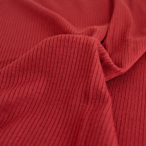 Light Weight Modal Rib Knit - Madder | Blackbird Fabrics