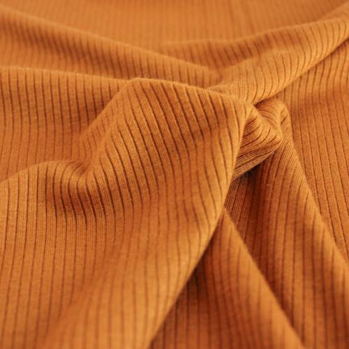 Light Weight Modal Rib Knit - Warm Ochre | Blackbird Fabrics