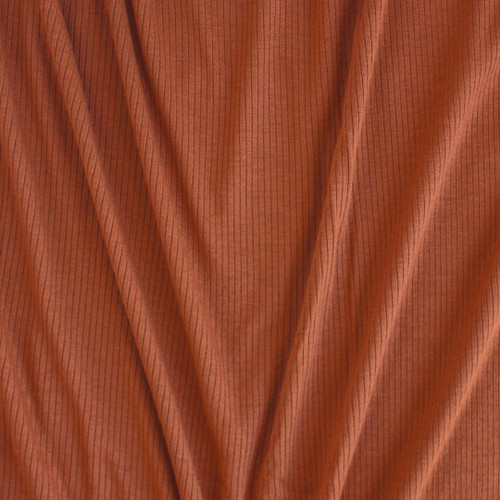 Light Weight Modal Rib Knit - Pecan | Blackbird Fabrics