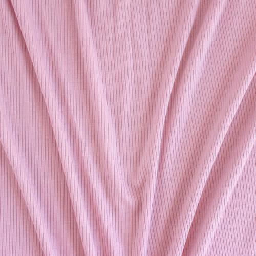 Light Weight Modal Rib Knit - Candy Floss | Blackbird Fabrics