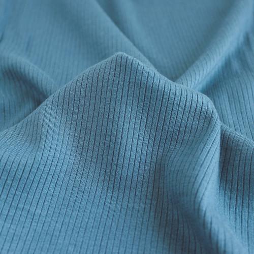 Light Weight Modal Rib Knit - Teal | Blackbird Fabrics