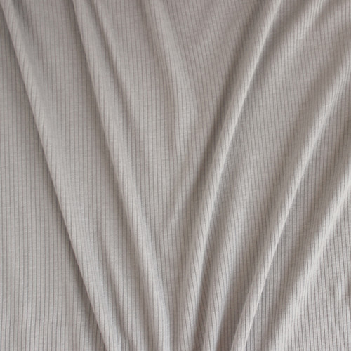 Light Weight Modal Rib Knit - Pebble | Blackbird Fabrics