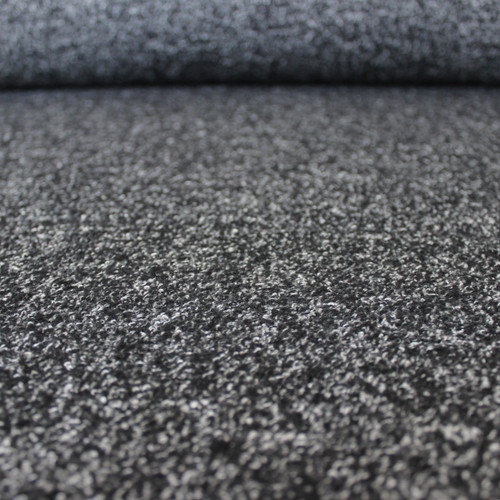 Marled Wool Blend Coating - Black - 1/2 meter
