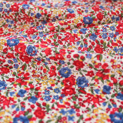 Emma & Georgina Tana Lawn Cotton - Red/Blue | Blackbird Fabrics