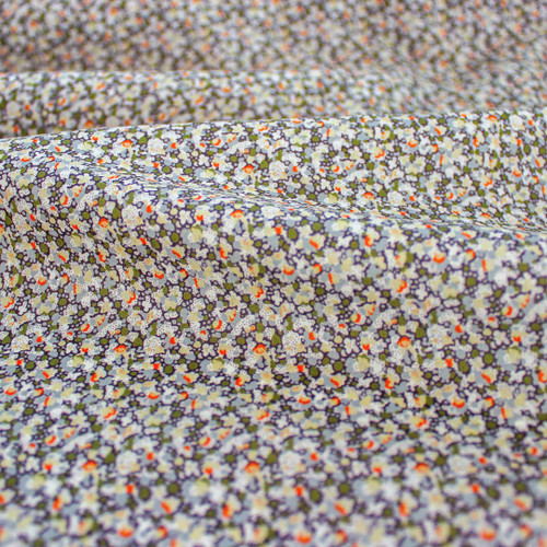 Pepper Tana Lawn Cotton - Ivory/Olive   Blackbird Fabrics
