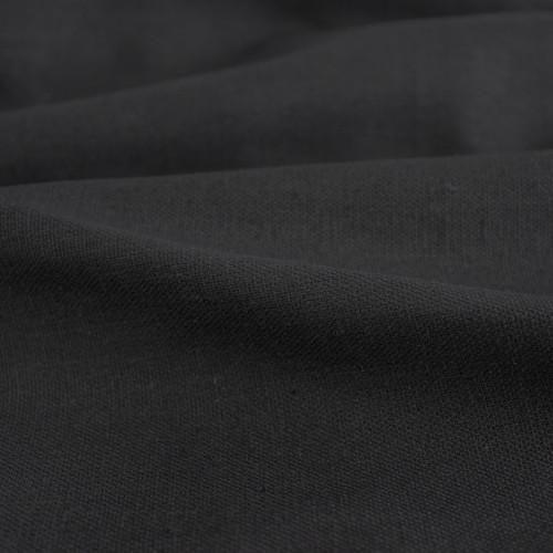 9oz Hemp & Organic Cotton Canvas - Black | Blackbird Fabrics