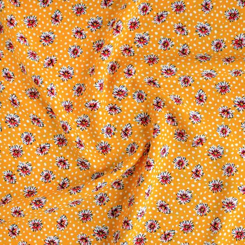 Daisy Lightweight Viscose Poplin - Yellow | Blackbird Fabrics