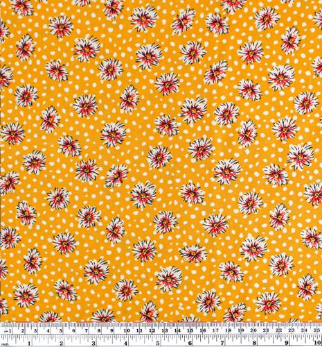 Daisy Lightweight Viscose Poplin - Yellow - 1/2 meter