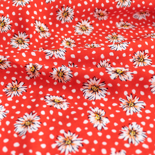 Daisy Lightweight Viscose Poplin - Red | Blackbird Fabrics