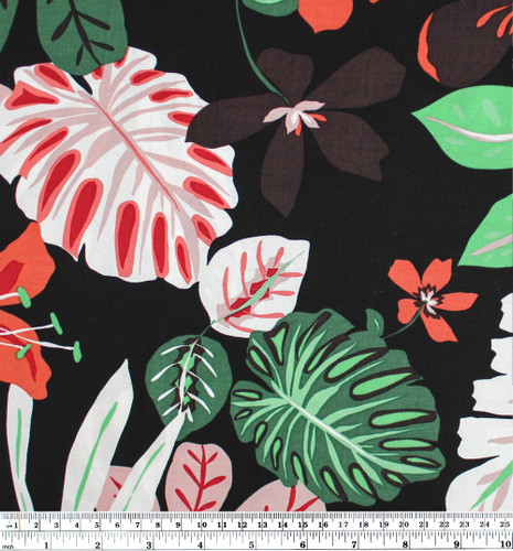 Tropical Viscose Poplin - Black  | Blackbird Fabrics
